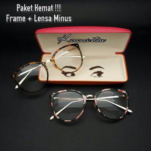 GROSIR TERMURAH PAKET FRAME FREE LENSA MINUS - Kacamata Frame Wanita Dior  5014 Oval plastik  3da4387028