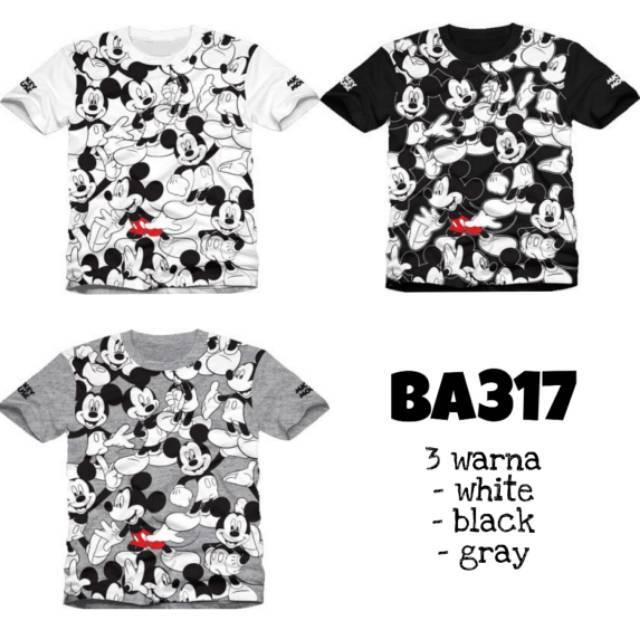 Baju Atasan Kaos Tumblr Tee Gambar Mickey Mouse Lucu Pergi Kuliah Fashion Cewek Wanita Murah 317 Shopee Indonesia