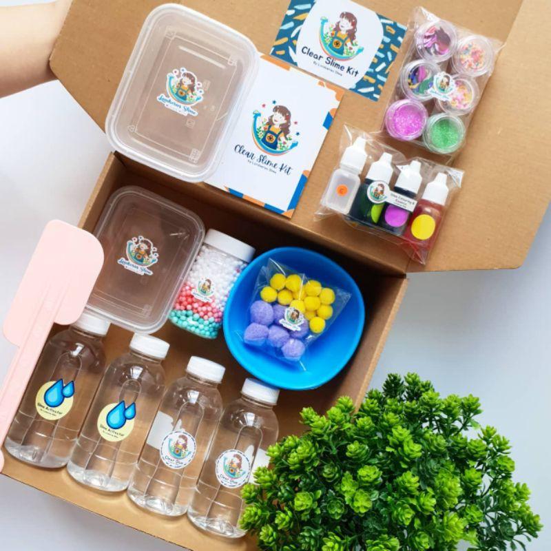 DIY Mega Clear Slime Kit by Landseries Slime| Bahan Slime