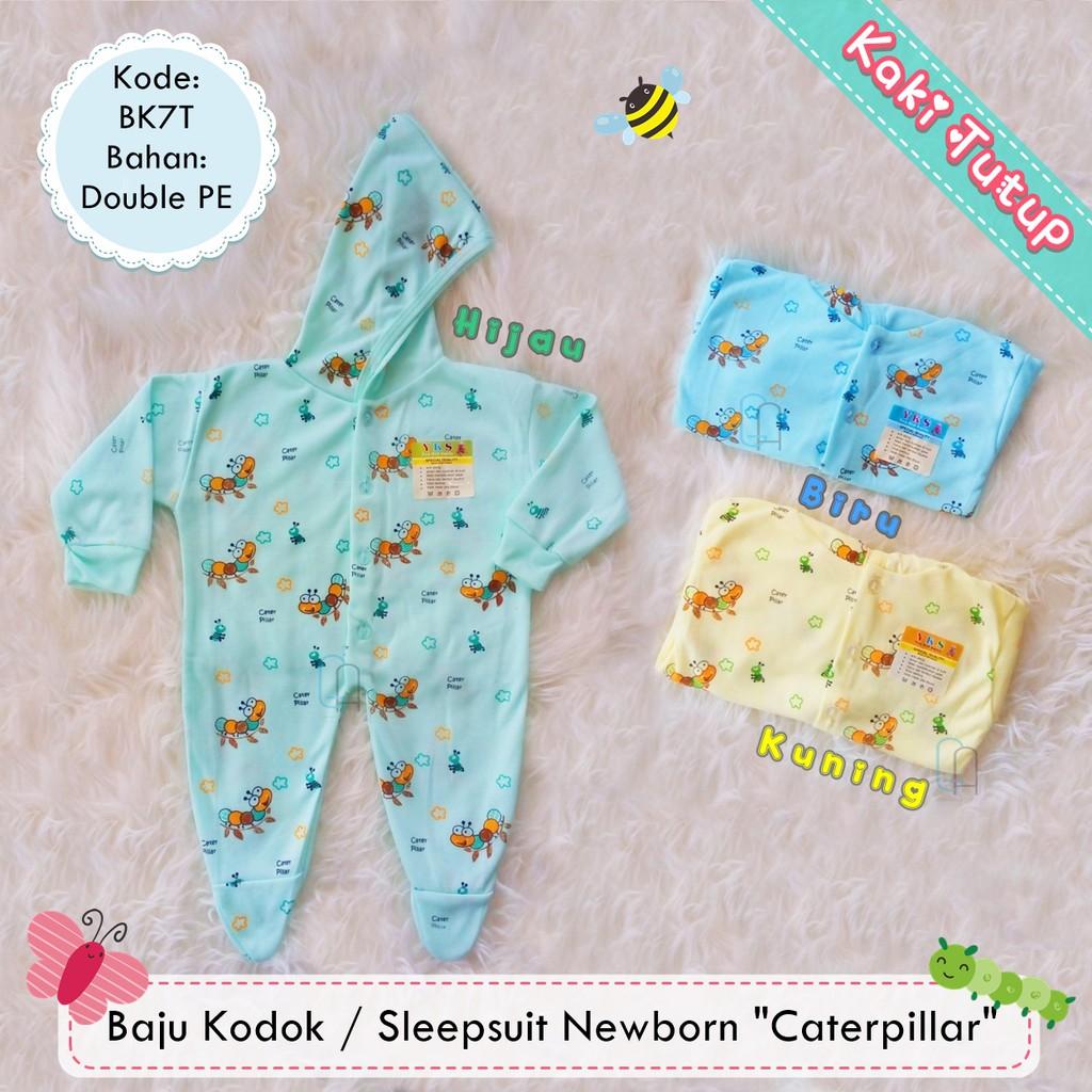 Set 3in1 Jumper Bayi Buka Kaki Newborn Kodokan Bayi Sleepsuit + Slebber +  Topi  fe4ea20192