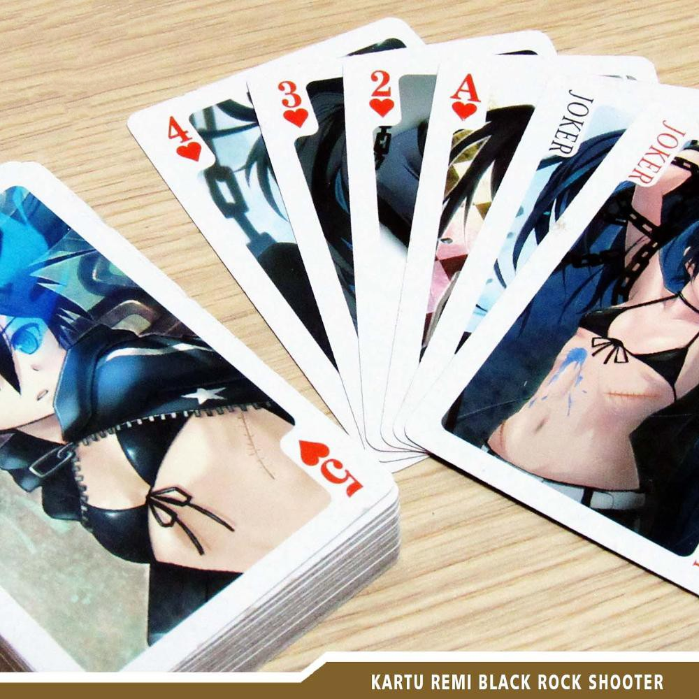 Pvc Waterproof Poker Card Black And Blue Edition Kartu Remi Hitam Biru Shopee Indonesia