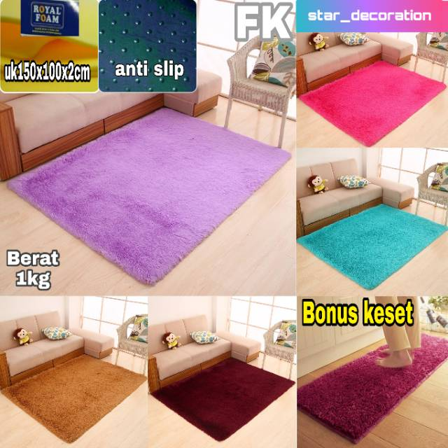 Karpet bulu matras uk 150x100x2cm Shopee Indonesia