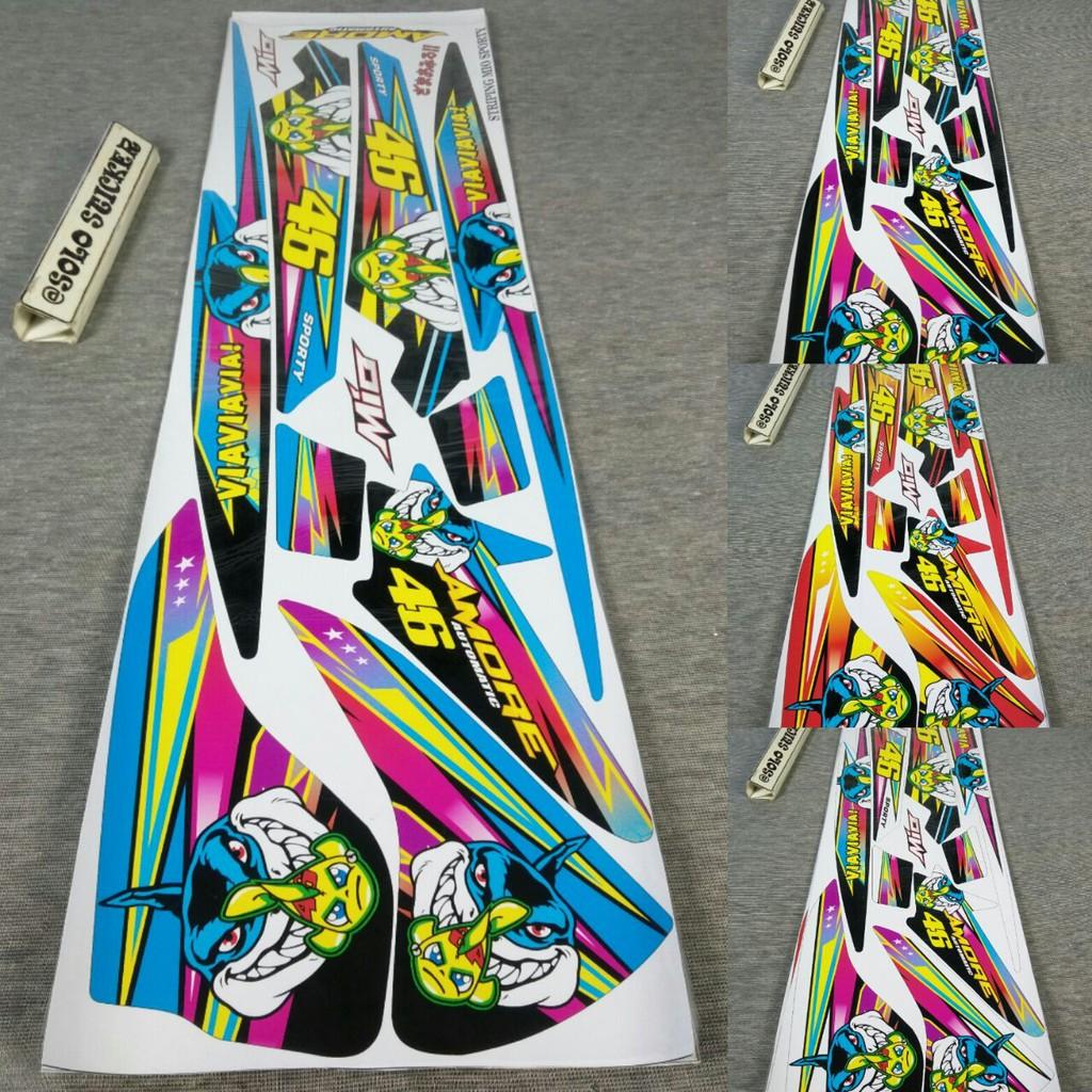 Striping sticker variasi mio sporty mio smile sonic 3 shopee indonesia