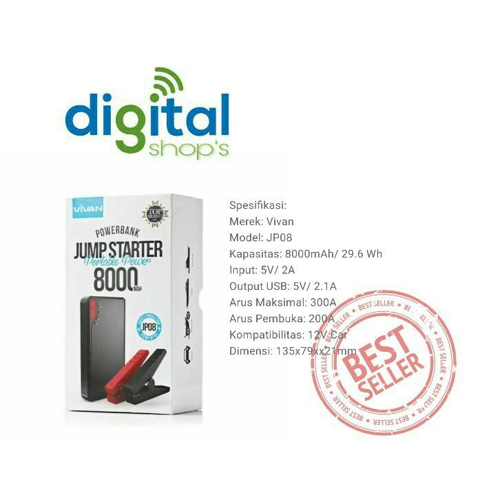 Sta - Vivan Powerbank Jp08 Jp-08 8000 Mah Jump Starter Original -3558 1 | Shopee Indonesia