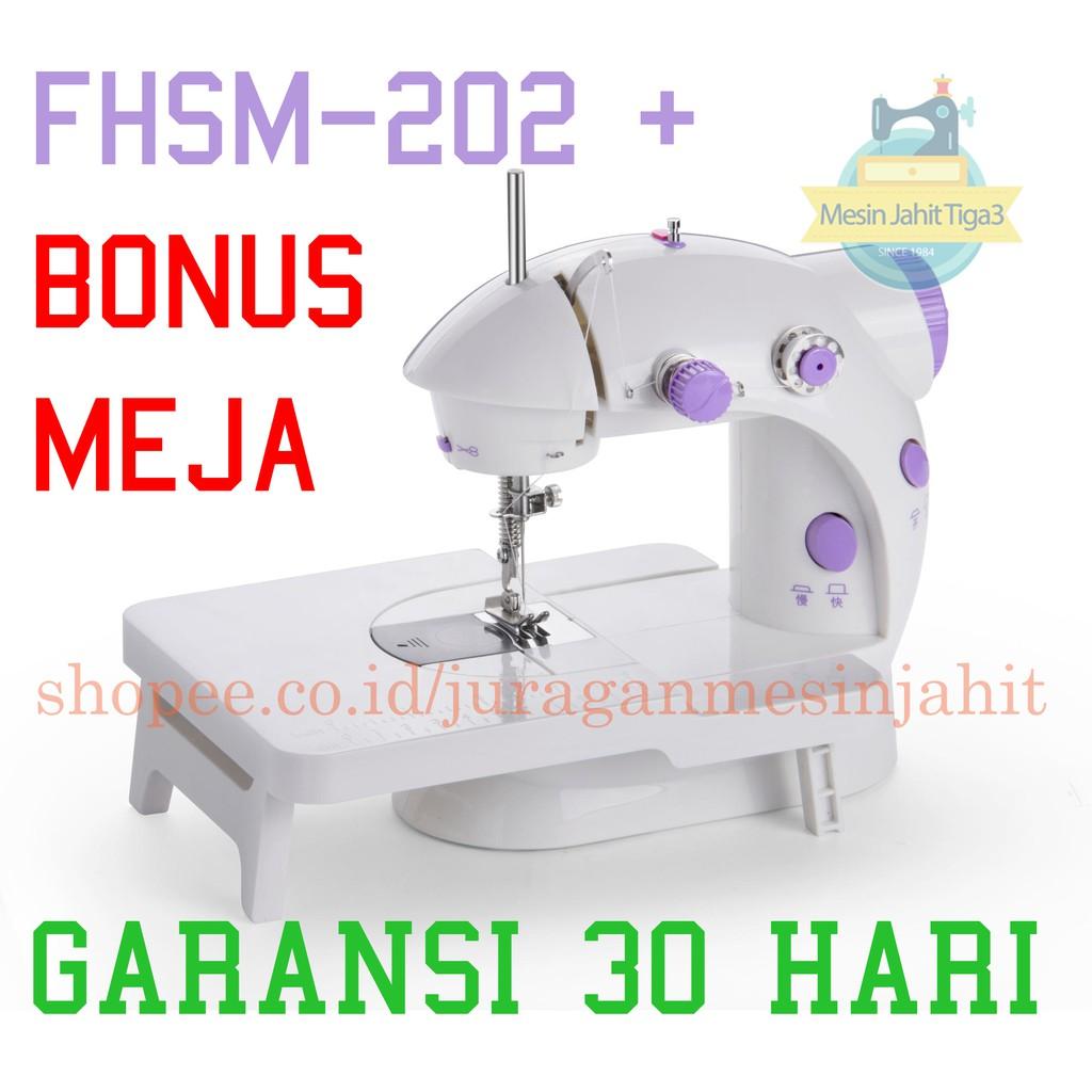 MESIN JAHIT MINI PORTABLE / MESIN JAHIT FHSM-202 / MESIN JAHIT SEWING MACHINE /