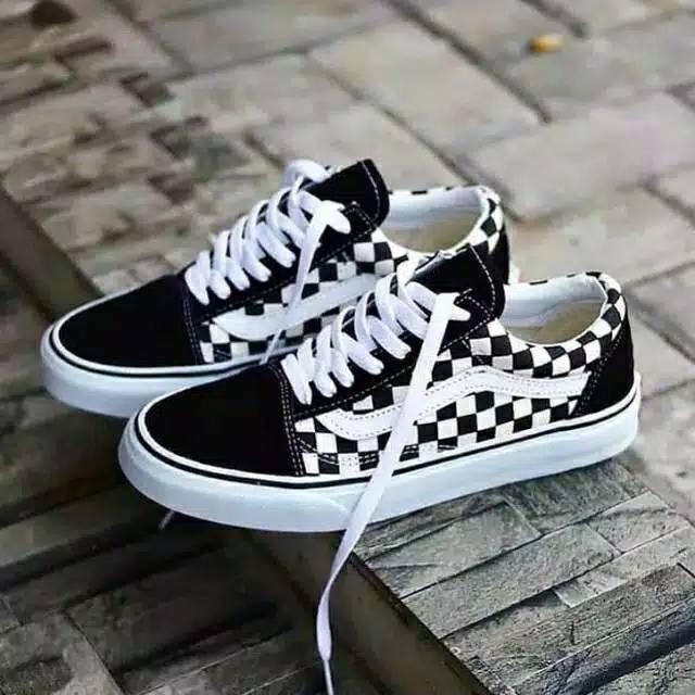 Sepatu Vans Old School Edisi Pria Dan Wanita 2020 Shopee Indonesia