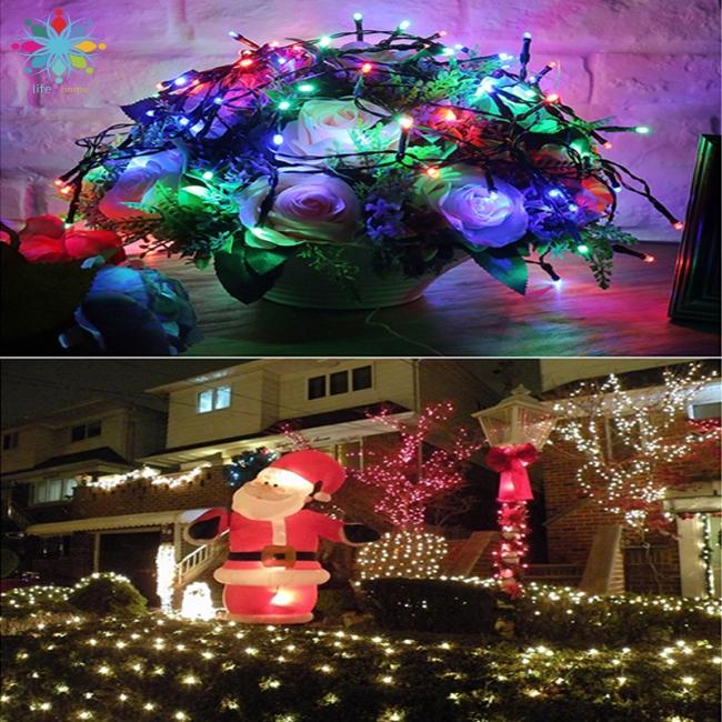 50 100 Led Solar Power String Light Christmas Fairy Lights Waterproof Outdoor Garden Xmas Tree Lamp Shopee Indonesia