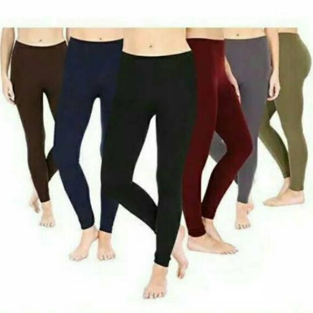 B 038 Legging Panjang Tebal Premium Celana Leging Polos Jersey Spandek Lejing Shopee Indonesia