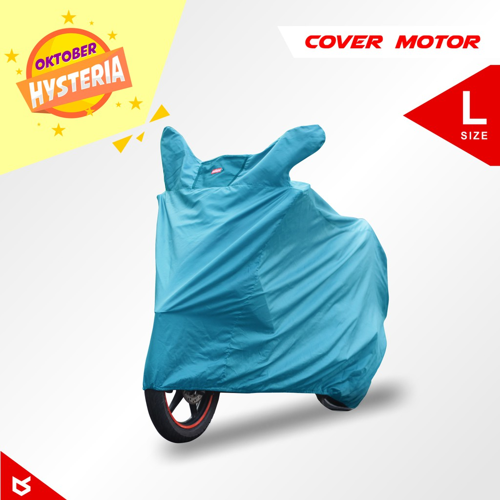 Cover Super Motor Sarung Ukuran Xl Warna Abu Coversuper Mantel 120 150cc Sport Bikes Size Shopee Indonesia