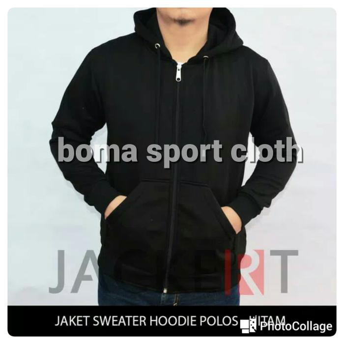 Jaket Sweater Hoodie Zipper Polos Navy - Misty Tua, Xl | Shopee Indonesia