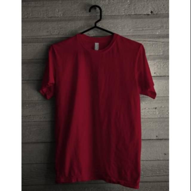 Kaos Polos Merah Maroon Shopee Indonesia