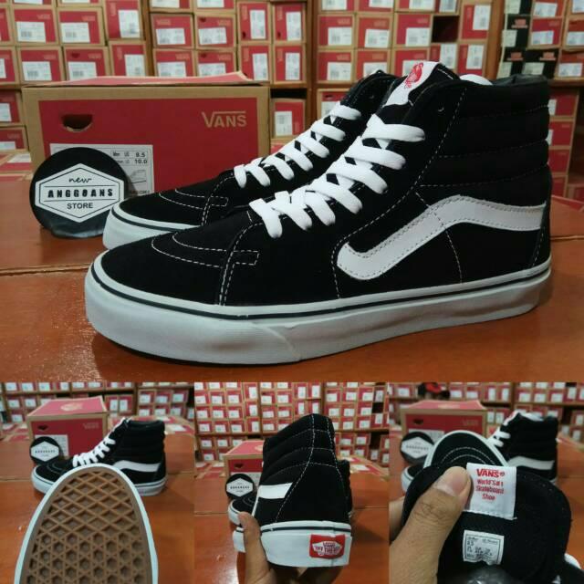 Vans Classic NEW Old Skool Black White Kualitas Terbaik Sepatu Hitam Putih Pria Wanita | Shopee Indonesia