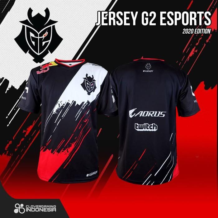Jersey G2 Esports 2020 Edition - Baju Kaos Gaming Esports - M