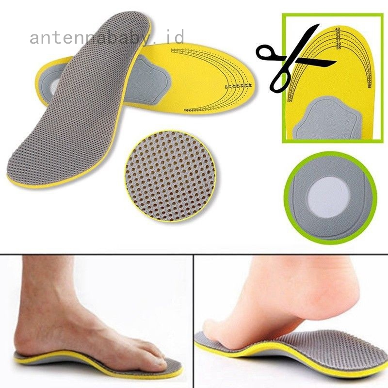 1Pair 4D Orthotic Flat Feet High Arch Gel Heel Inserts Insoles Pads Support Shoe