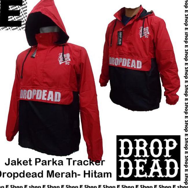 DIJUAL Jaket Parasut Parka Tracker Drop Dead Merah - Hitam ... eeef390f20