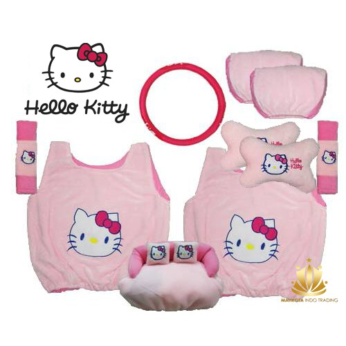 Sarung Jok Mobil 18 in 1 Bantal Mobil 18in1 Minnie Mouse / Mini Mouse (2 Baris)   Shopee Indonesia
