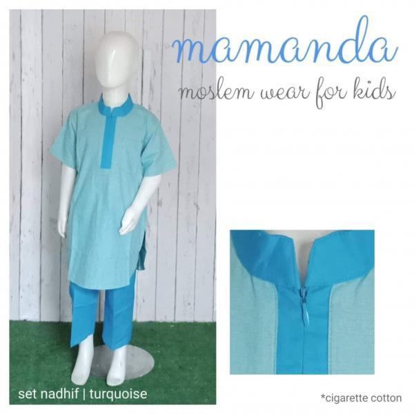 Koko Anak Set Nadhif Turquoise by Mamanda