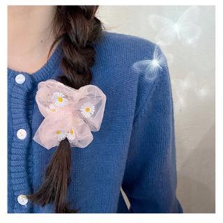 Ikat Rambut Bunga Daisy Gaya INS Korea Segar Kecil Tali Rambut Elastis Untuk Wanita 4