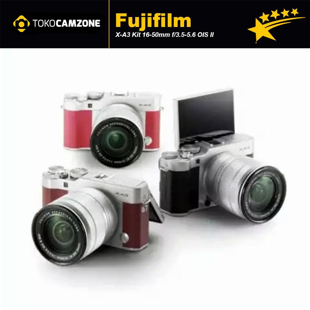 Fujifilm Fuji X A3 Xa3 Kit 16 50mm Kamera Mirrorless Pink E1 Lensa 18 55mm F 28 4 R Lm Ois Paket Lengkap Shopee Indonesia