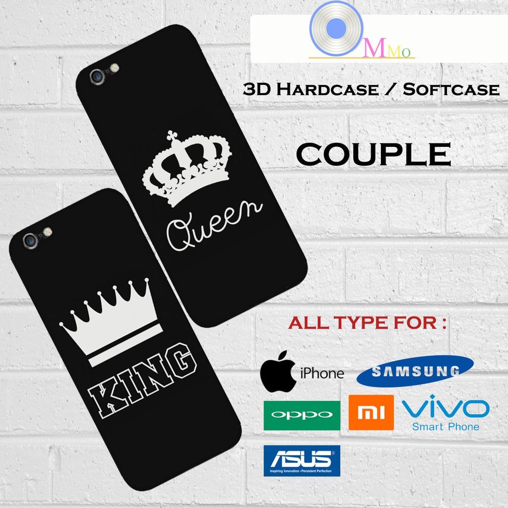 Case casing custom lucu unik 3d premium iphone samsung oppo xiaomi vivo asus couple king queen