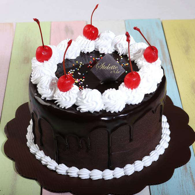 Kue Ulang Tahun Chocolate Fudge Blackforest 16 Cm Bulat Murah Enak