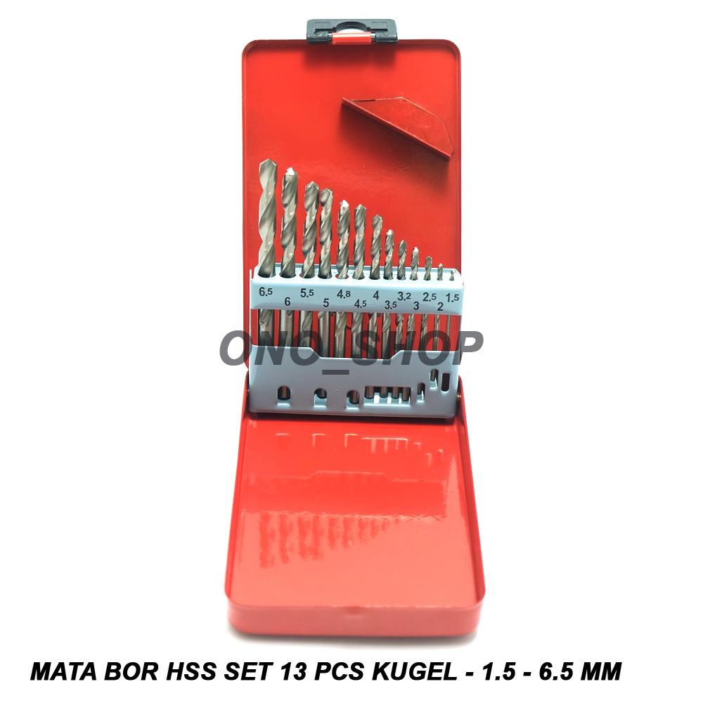 Mata Bor Mini Hss Titanium Set 5 Pcs 1 3 Mm Shopee Indonesia Besi 13 Mollar