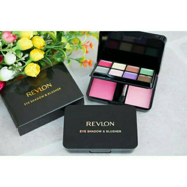 REVLON TINGKAT 8 EYESHADOW + 2 BLUSH ON / REVLON MAKE UP KIT BLUSHER | Shopee Indonesia