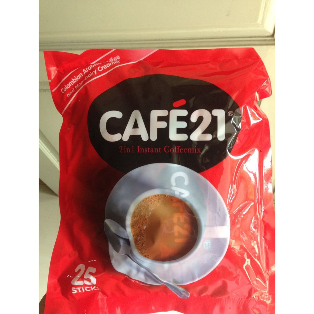 Cafe21 2in1 Instant Coffeemix Cafe 21 Coffee Kopi Shopee Indonesia Old Town White 2 In 1 Creamer 15s X 25g Oldtown
