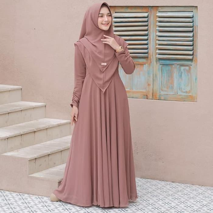 Baju Muslim Wanita Set Syar I Terbaru Gamis Dewasa Modern Kekinian Lengan Panjang 2020 Mayra Syari Shopee Indonesia
