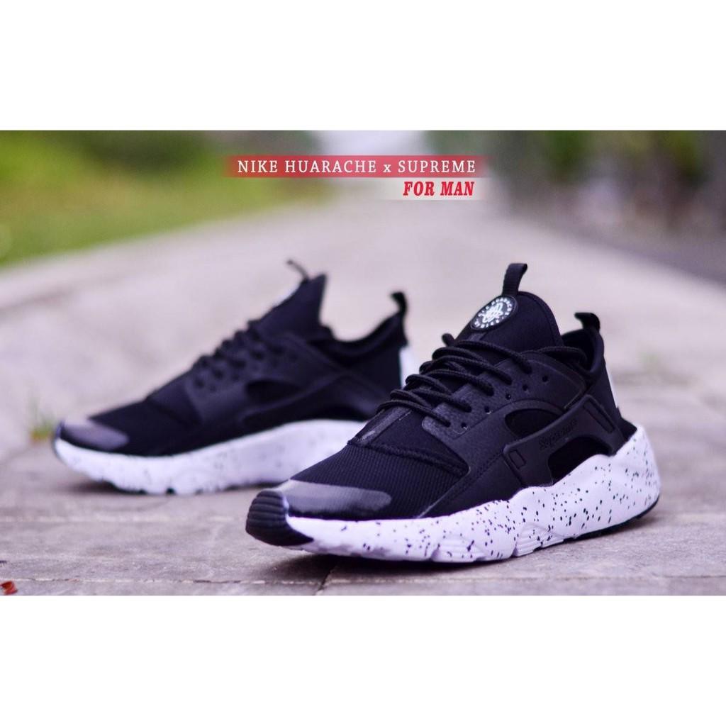 NIKE HUARACHE MEN x SUPREME FLYKNITE I uawshoesofficial - Sepatu Pria Supreme Sneakers Santai Pria
