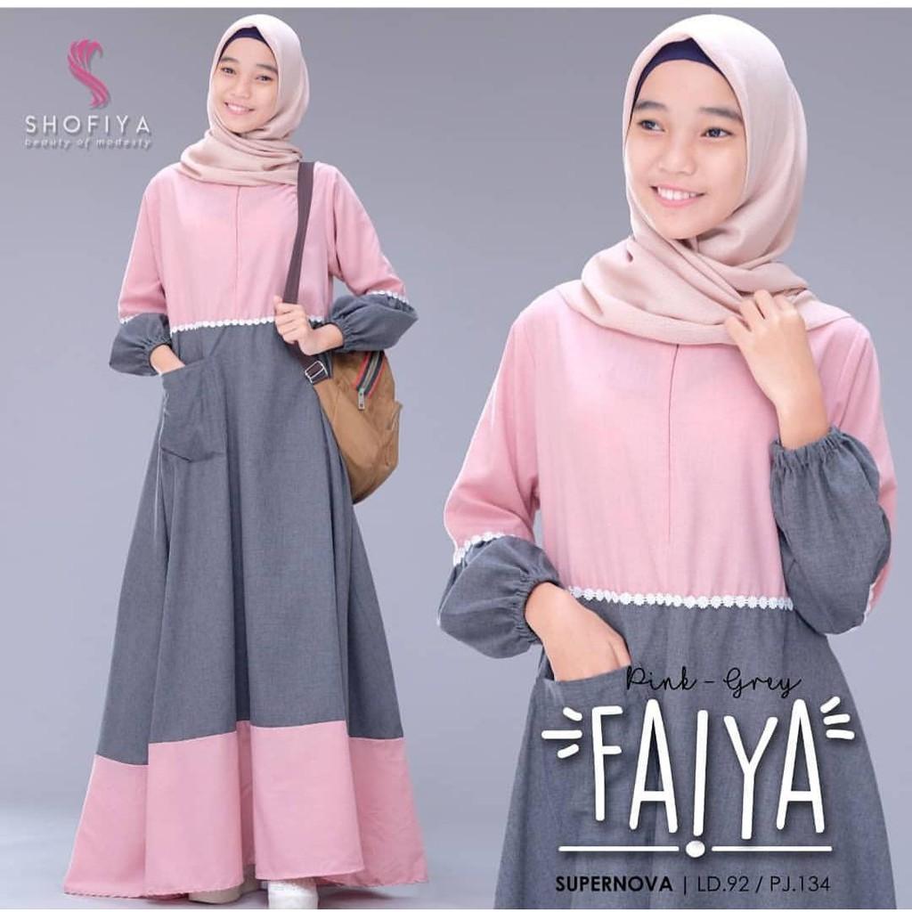 FAIYA DRESS Baju Gamis Anak Tanggung Terbaru 2020 Fashion Modern Baju Gamis Wanita Muslim Elegant