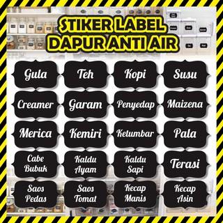 Sticker Bumbu Label Bumbu Dapur Custom Sticker Label Nama Nama Bumbu Label Bumbu Shopee Indonesia