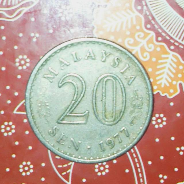 Uang kuno Malaysia 20 sen 1977