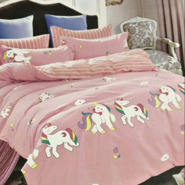 Sprei Bedcover Unicorn Double Murah Shopee Indonesia