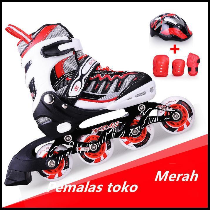 Sepatu Roda Anak Roda Karet Street Runner ( Red )  89c30e84c8