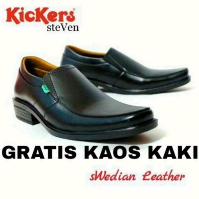 Sepatu Pantofel Kickers Steven Hitam Casual Pria Laki
