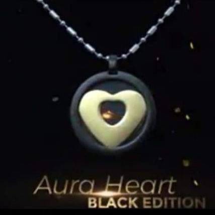 Kalung kesehatan Pendant Aura Heart black edition MCI Original