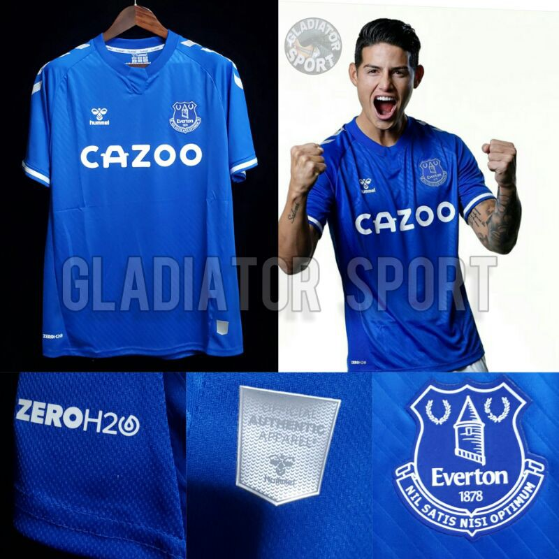 Jersey Everton Home New 2020 2021 Grade Original Shopee Indonesia