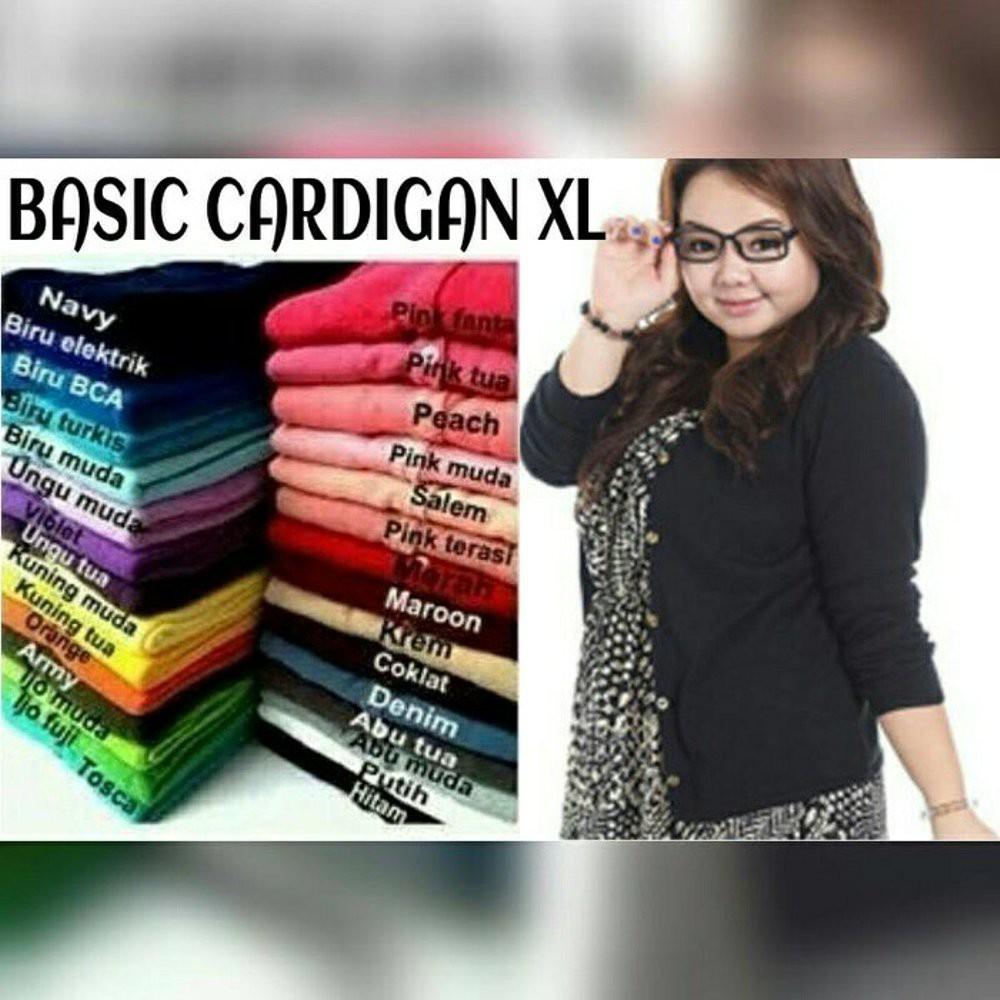 Atasan Wanita Cardigan Basic Cardy Spandek Knite Merah - Daftar ... - Rp 81.049