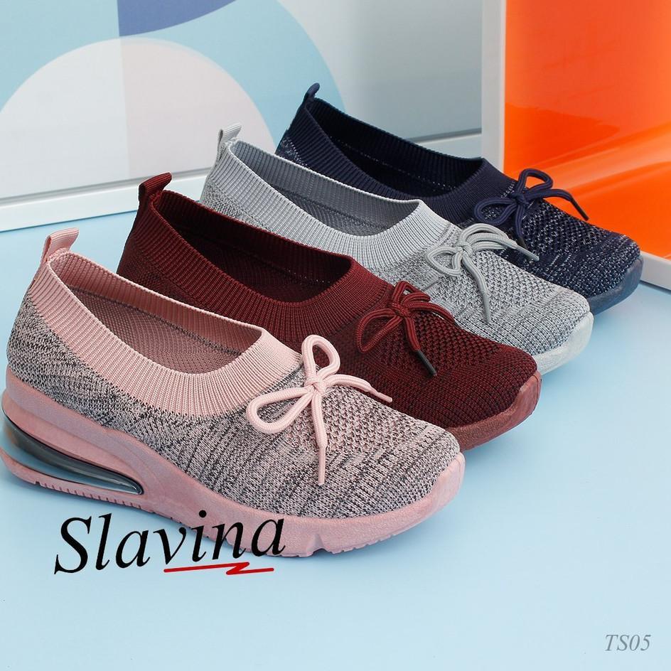 Ready Stock Sepatu Wedges Slavina Ts05 Shopee Indonesia
