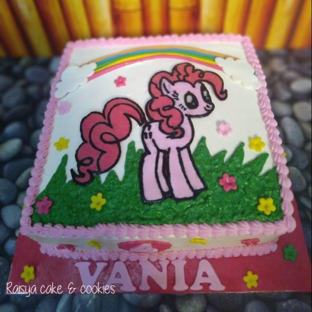 Kue Ulang Tahun Kuda Poni Buttercream Shopee Indonesia