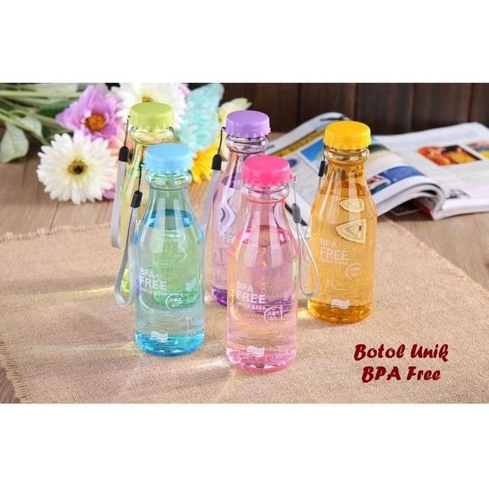 A3C227 Bottle Minum BPA FREE Colorful Transparant - Botol 550 ml | Shopee Indonesia