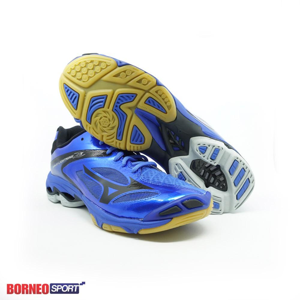 Jual Sepatu Volley Mizuno Original Wave Lightning Z4 Black Blue V1GA180024  Murah  586d467bcc