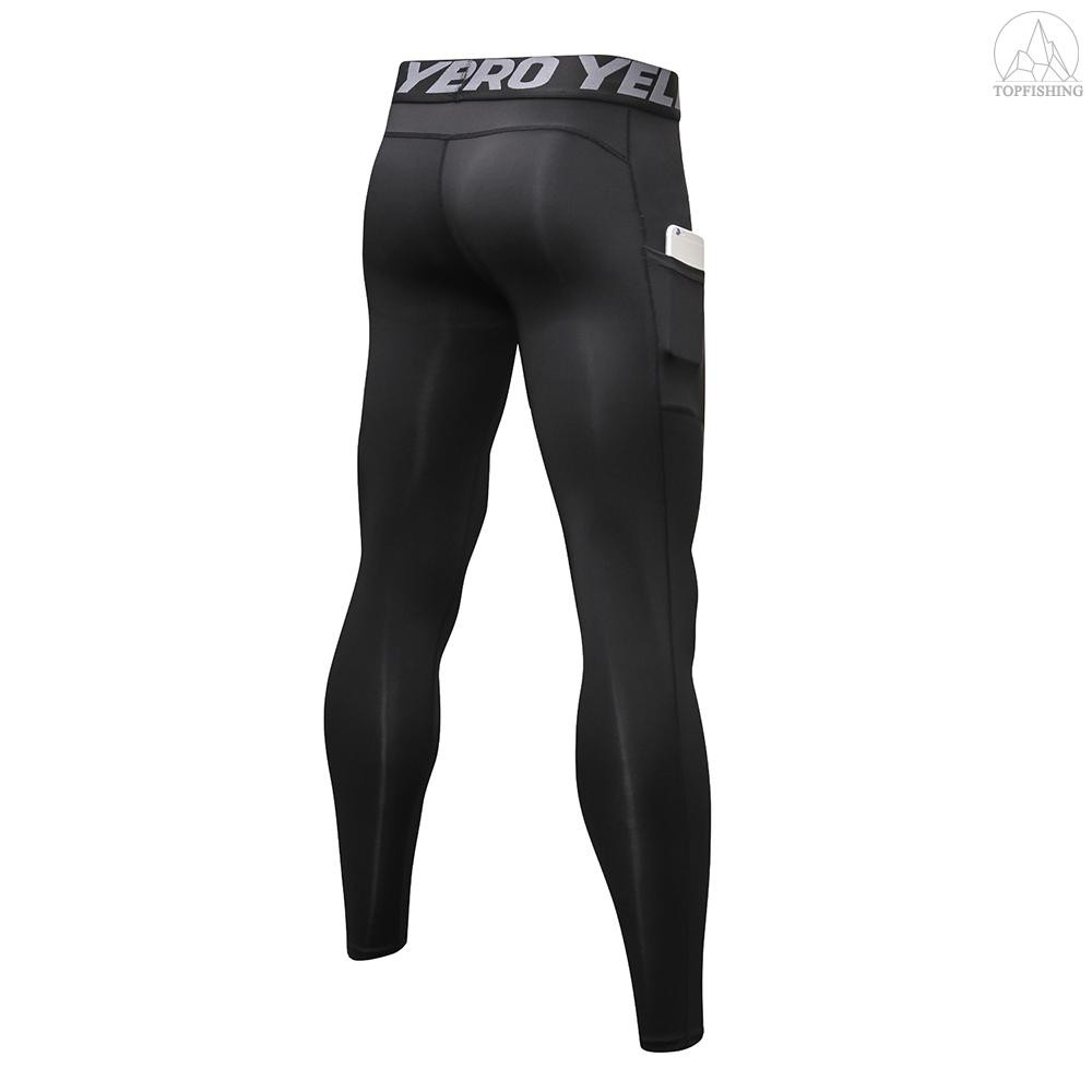 3 Pack Celana Legging Panjang Pria Quick Dry Dengan Saku Untuk Olahraga Lari Workout Shopee Indonesia