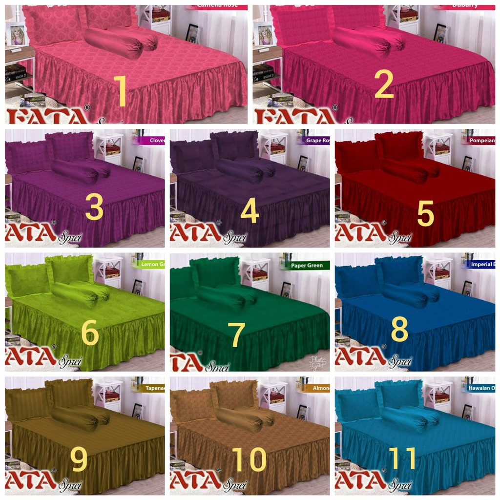 Sprei Fata Polos Jacquard 180x200 Shopee Indonesia Katun Import  Uk 120x200 Single 452