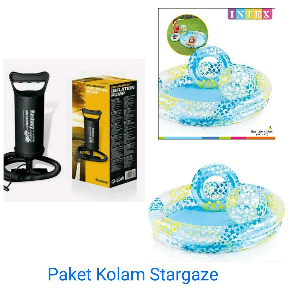 Jual Pelampung Renang Anak Tranparant Ring Biru Intex 59242 Shopee My Baby Float 59574 Ban Air Indonesia