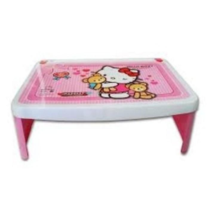 Meja Lipat Belajar Anak Plastik Karakter Hello Kitty Pink Lap Desk Lesehan Napolly
