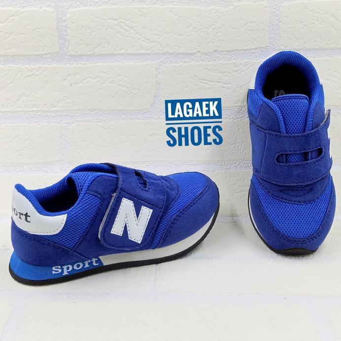 New Sepatu Sport Anak Usia 3-8 Tahun Perekat Velcro Biru Simple Sku-Mmb Murah   Shopee Indonesia