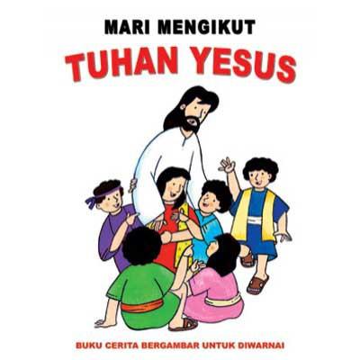 Buku Mewarnai Mari Mengikut Tuhan Yesus Shopee Indonesia