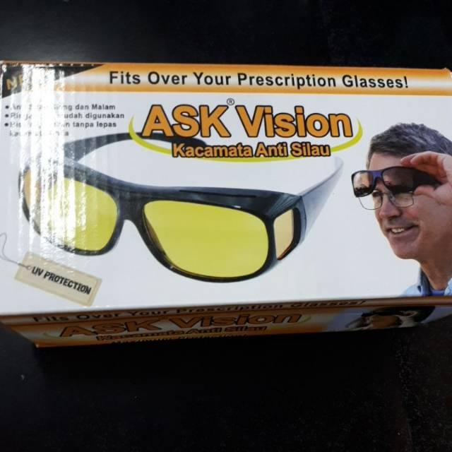 Kacamata HD Vision Kacamata Anti Silau 2 in 1 Sun Glasses Murah ... 045ea1e07d